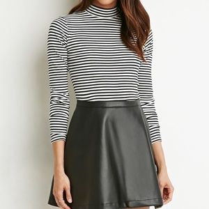 Forever 21Faux Leather Skater Skirt